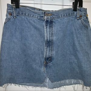 Levi Distressed Denim Vintage Jean Mini Skirt